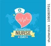 international nurse day modern...   Shutterstock .eps vector #1080805931