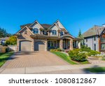 big custom made luxury house... | Shutterstock . vector #1080812867