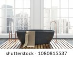 luxury bathroom interior with a ... | Shutterstock . vector #1080815537