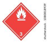 ghs hazardous flammable liquids ... | Shutterstock .eps vector #1080818939