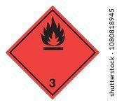 ghs hazardous flammable liquids ... | Shutterstock .eps vector #1080818945