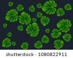 vector summer tropical pattern... | Shutterstock .eps vector #1080822911
