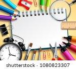 back to school vector... | Shutterstock .eps vector #1080823307