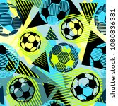 seamless  textile football... | Shutterstock .eps vector #1080836381