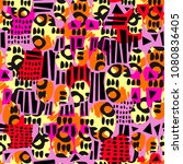 urban seamless funky collage... | Shutterstock .eps vector #1080836405