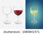 wineglass 3d vector... | Shutterstock .eps vector #1080841571