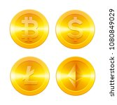cryptocurrencys icons set ... | Shutterstock .eps vector #1080849029