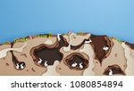 illustration of rabbits and... | Shutterstock .eps vector #1080854894