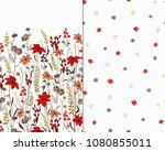 beautiful seamless floral... | Shutterstock .eps vector #1080855011