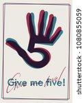 high five symbol | Shutterstock .eps vector #1080855059