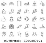 thin line icon set   business... | Shutterstock .eps vector #1080857921