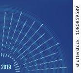 circular calendar 2019 year....   Shutterstock .eps vector #1080859589