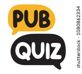pub quiz. vector hand drawn... | Shutterstock .eps vector #1080862334