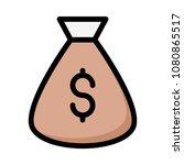 sack  bag cash  | Shutterstock .eps vector #1080865517