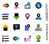 solid vector ixon set   compass ... | Shutterstock .eps vector #1080870797