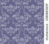 vector volumetric damask...   Shutterstock .eps vector #1080885839