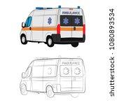 the ambulance car vector... | Shutterstock .eps vector #1080893534