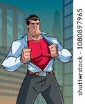illustration of businessman in...   Shutterstock .eps vector #1080897965