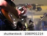 Guitarist Hand Play Electricity ...