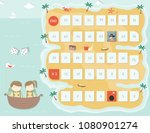 pirate board game template... | Shutterstock .eps vector #1080901274