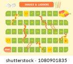 ladder snakes game funny frame... | Shutterstock .eps vector #1080901835