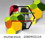 3d hexagon geometric... | Shutterstock .eps vector #1080902114