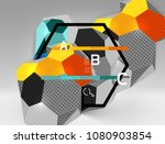 3d hexagon geometric... | Shutterstock .eps vector #1080903854