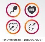 sperm icons. fertilization or...   Shutterstock .eps vector #1080907079