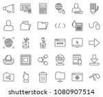 thin line icon set   web camera ... | Shutterstock .eps vector #1080907514