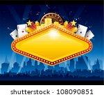 casino city background | Shutterstock .eps vector #108090851