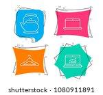 set of laptop  teapot and... | Shutterstock .eps vector #1080911891