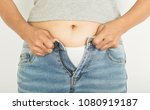 fat and women with obesity and... | Shutterstock . vector #1080919187