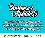 brushpen lettering alphabet.... | Shutterstock .eps vector #1080921455
