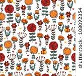 summer floral seamless.... | Shutterstock .eps vector #108092354