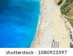 myrtos beach  kefalonia island  ... | Shutterstock . vector #1080923597