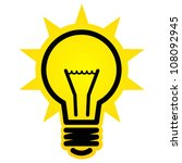 shining light bulb icon | Shutterstock .eps vector #108092945