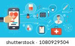 health care and medicine... | Shutterstock .eps vector #1080929504