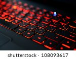 Modern Red Backlit Keyboard ...