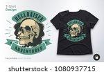 vintage skull vector emblem....   Shutterstock .eps vector #1080937715