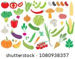vegetables icon set  vector... | Shutterstock .eps vector #1080938357
