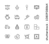 collection of baby icons   kids ... | Shutterstock .eps vector #1080938864
