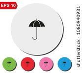 umbrella flat round colorful...