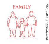 family. mom  dad and daughter.... | Shutterstock .eps vector #1080942707