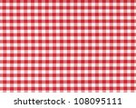 red classic checkered... | Shutterstock . vector #108095111