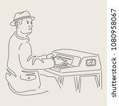 cartoon jazz character   Shutterstock .eps vector #1080958067