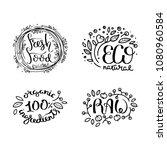 eco raster organic labels  bio...   Shutterstock . vector #1080960584