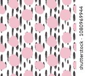 hand drawn seamless dot pattern.... | Shutterstock .eps vector #1080969944