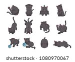 cat's emotions collection   Shutterstock .eps vector #1080970067