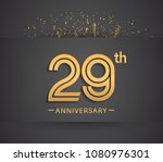 29th anniversary design for... | Shutterstock .eps vector #1080976301