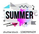 vector illustration with... | Shutterstock .eps vector #1080989609